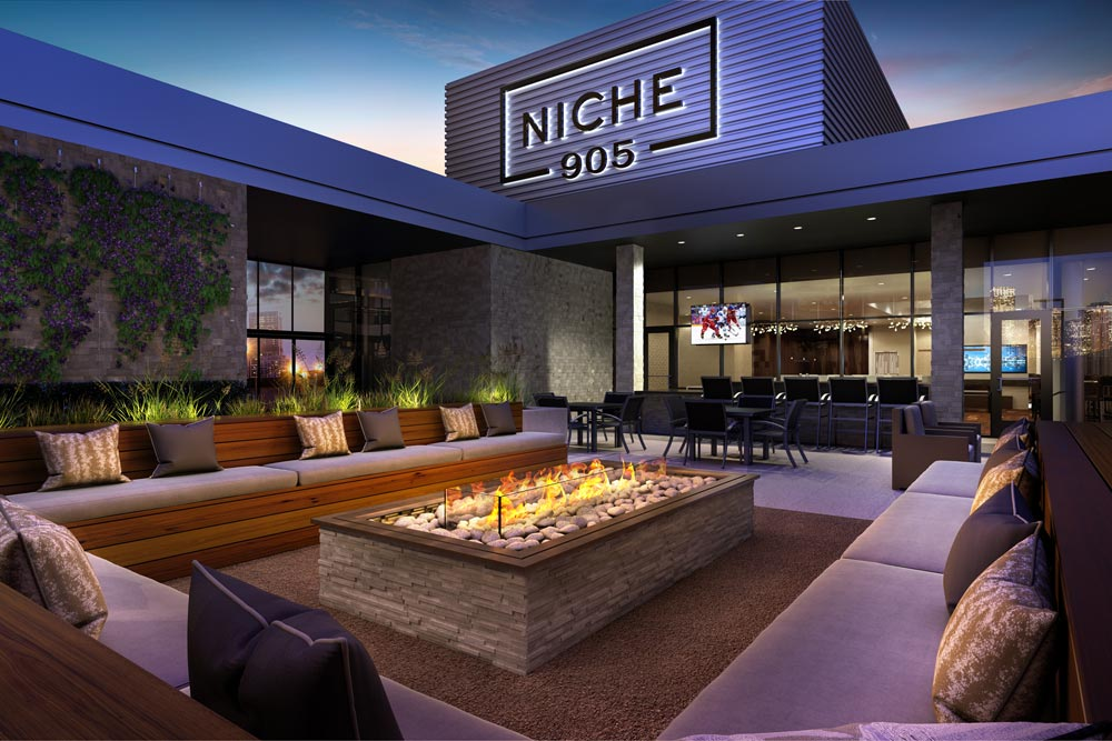 Niche 905 outdoor fire pit
